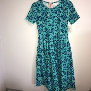 NWT LulaRoe gorgeous orange and blue dress